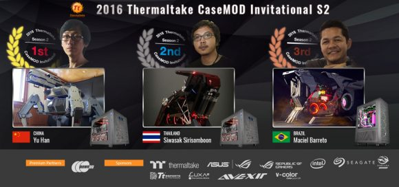 2016 Thermaltake CaseMOD Invitational Season Top 3 Winners