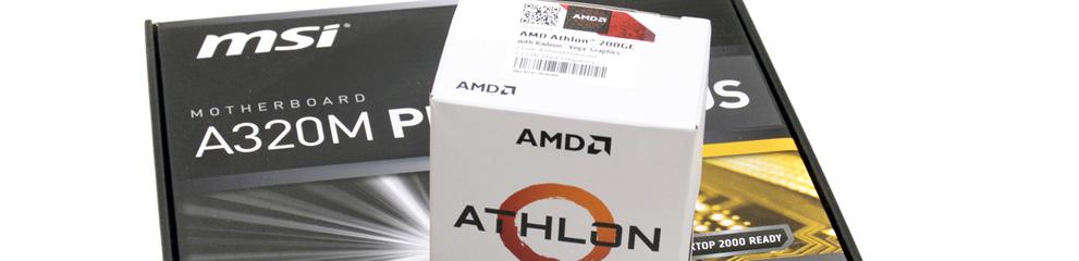 Studiu – AMD Athlon 200GE & MSI A320M PRO-VH Plus