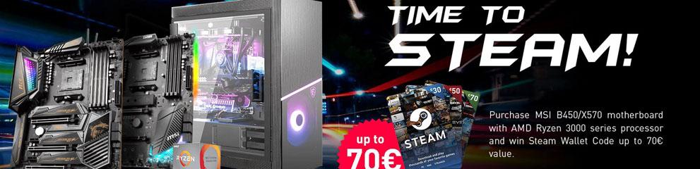 Cumpara placi de baza MSI si poti primi pana la 70 Euro pe Steam